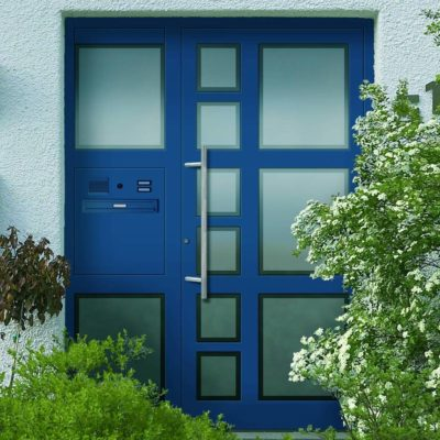 Haustür blau